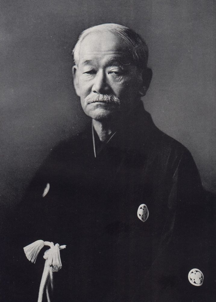 A profile picture of a founder of judo - Jigoro Kano.