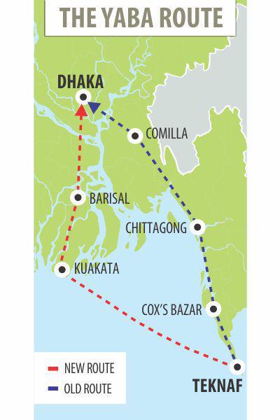 Ya ba trade route in Bangladesh