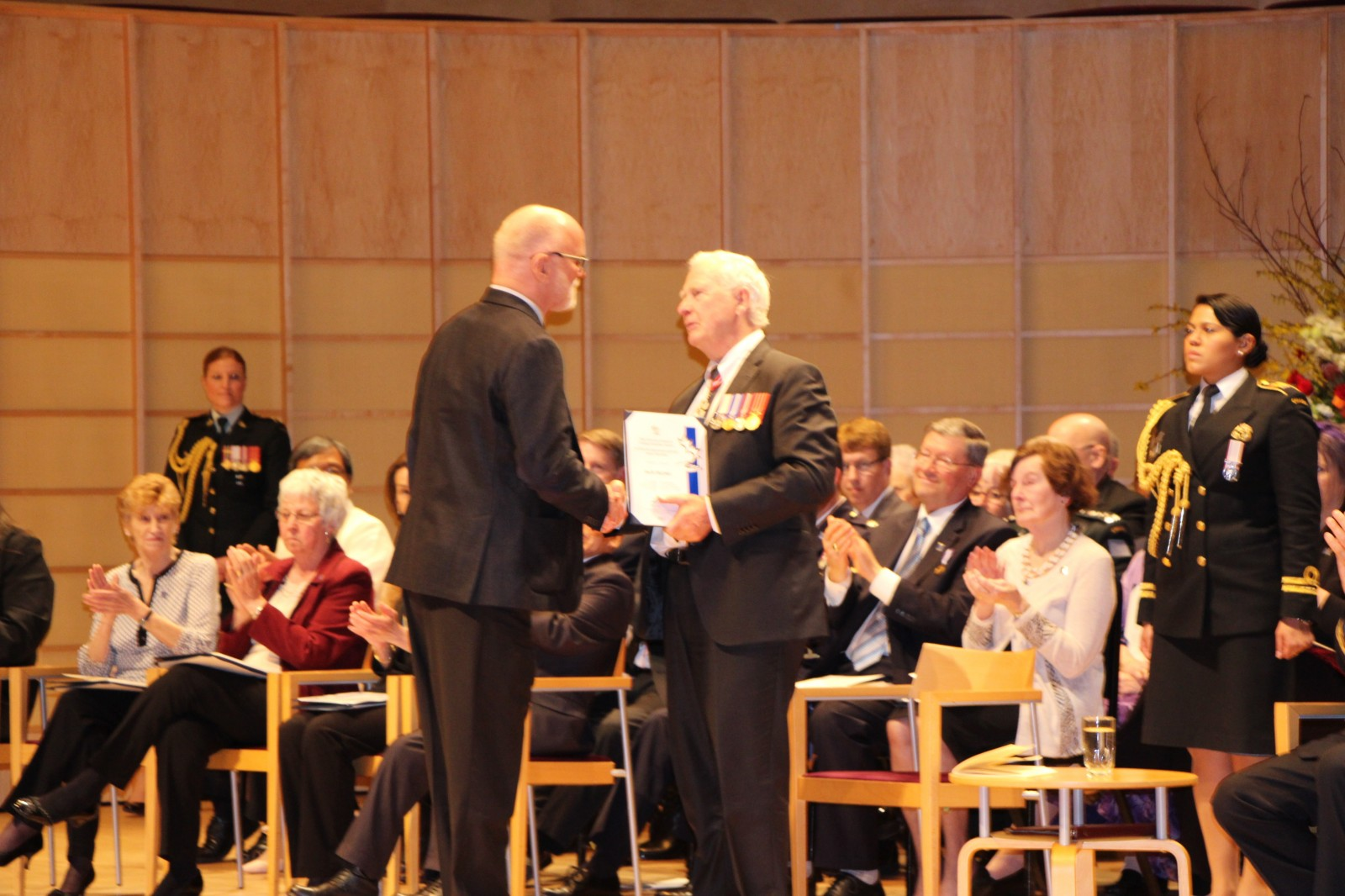 Governor General Presenting Award