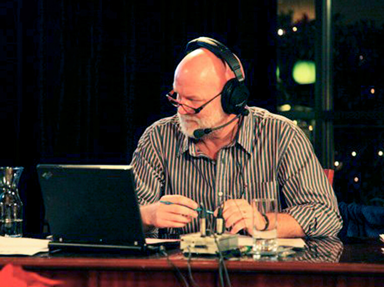 Jon McComb in the Radio Room