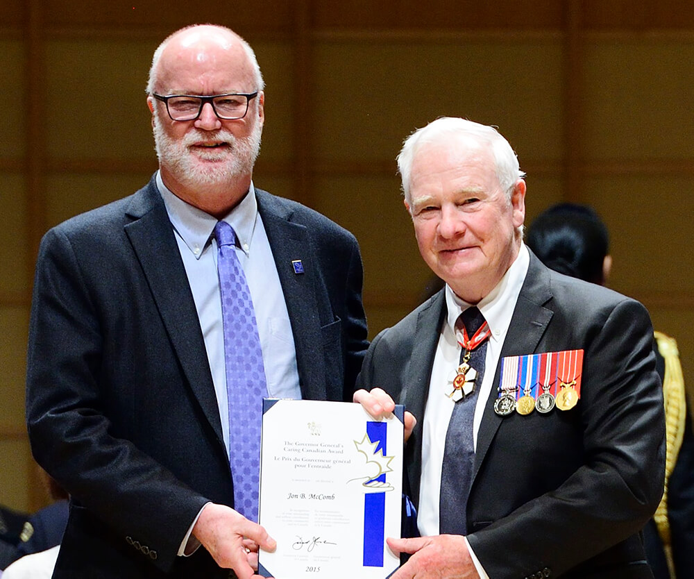 Jon Receiving Governor General's Award