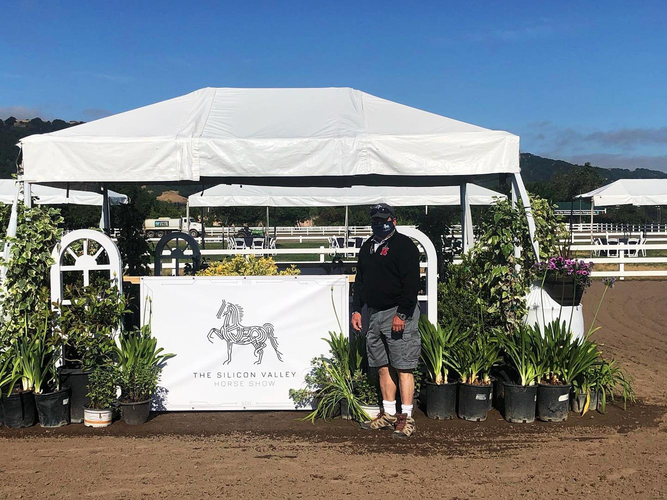 Horse show center ring signage