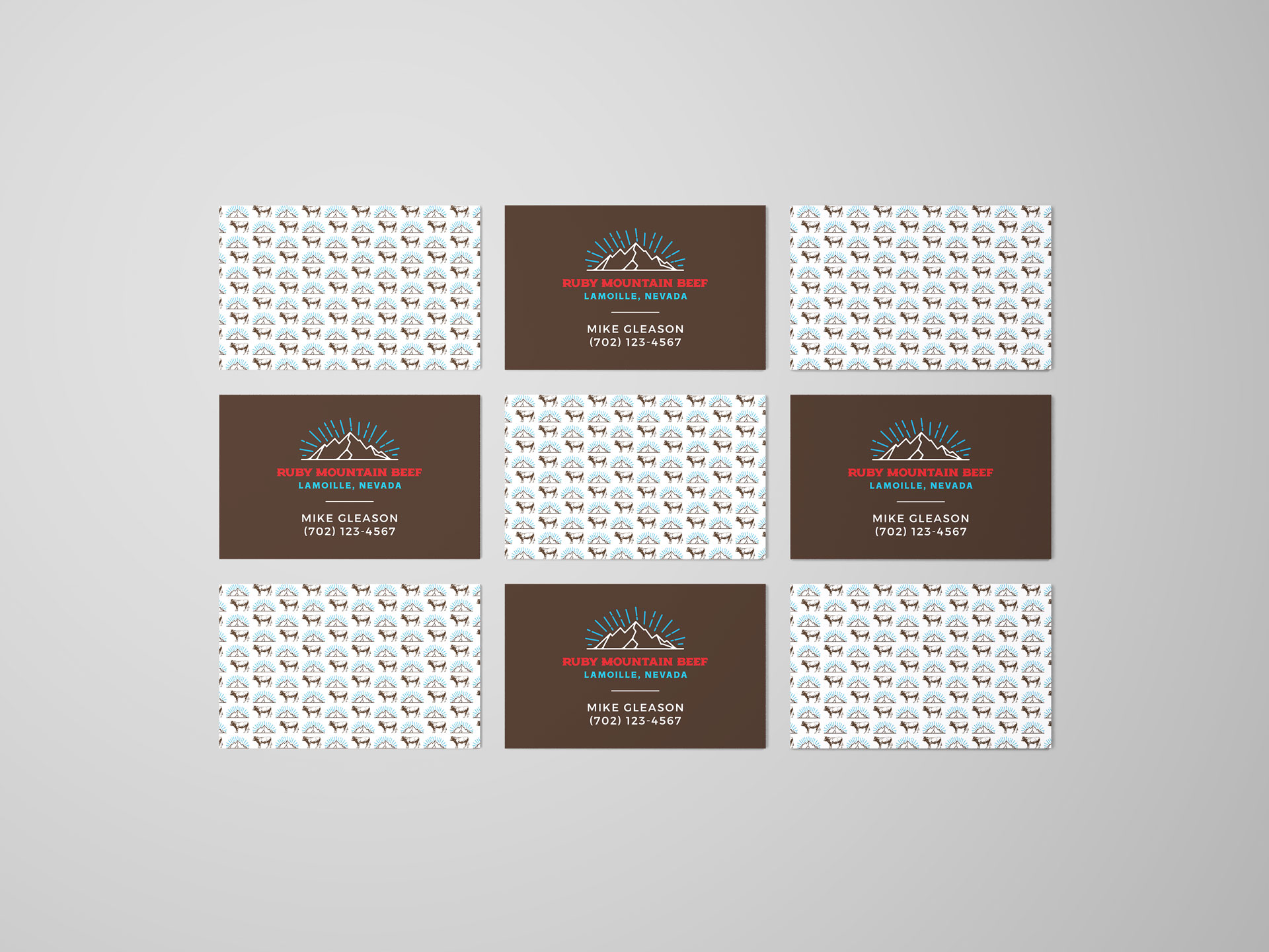 business cards and pattern