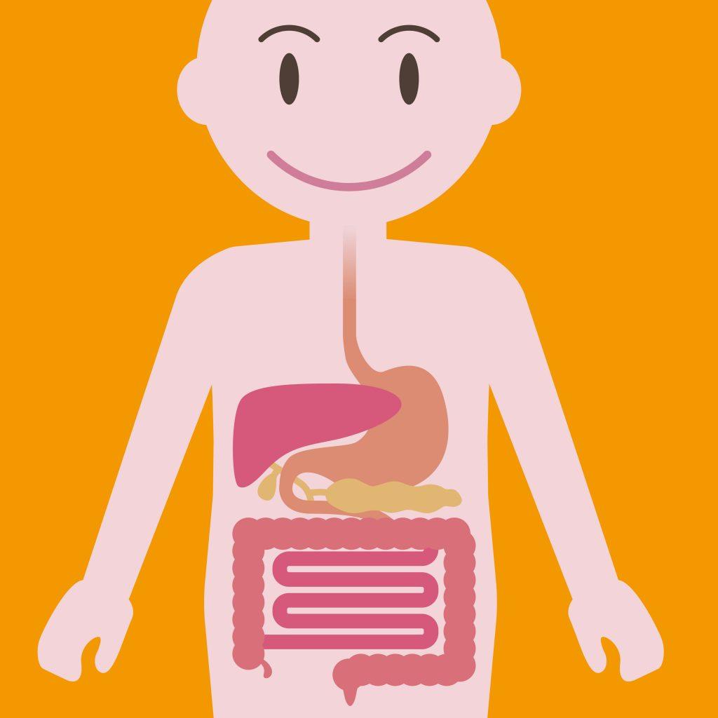 cartoon image of gastrointestinal symptom.