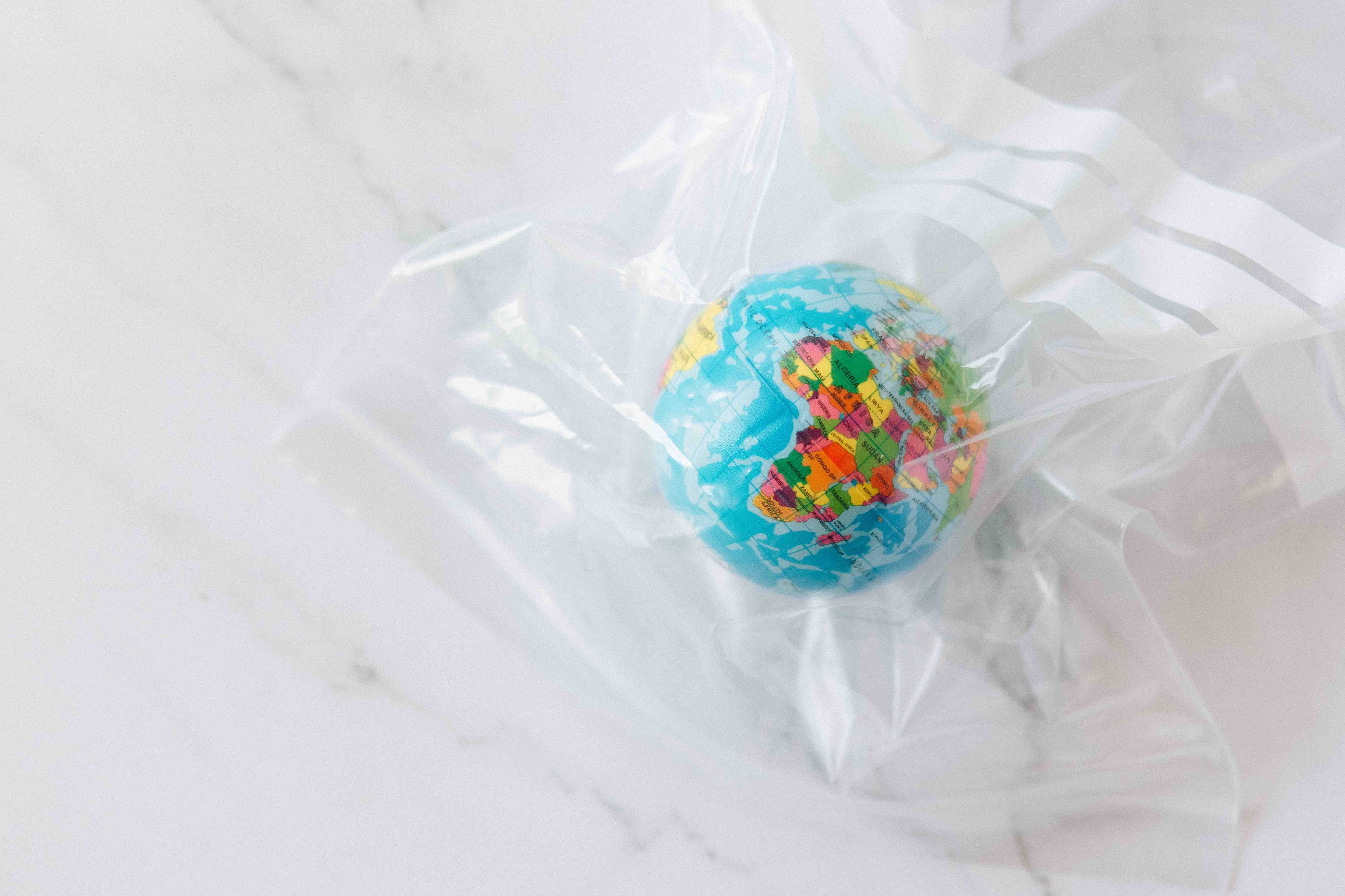 Earth in a plastic bag