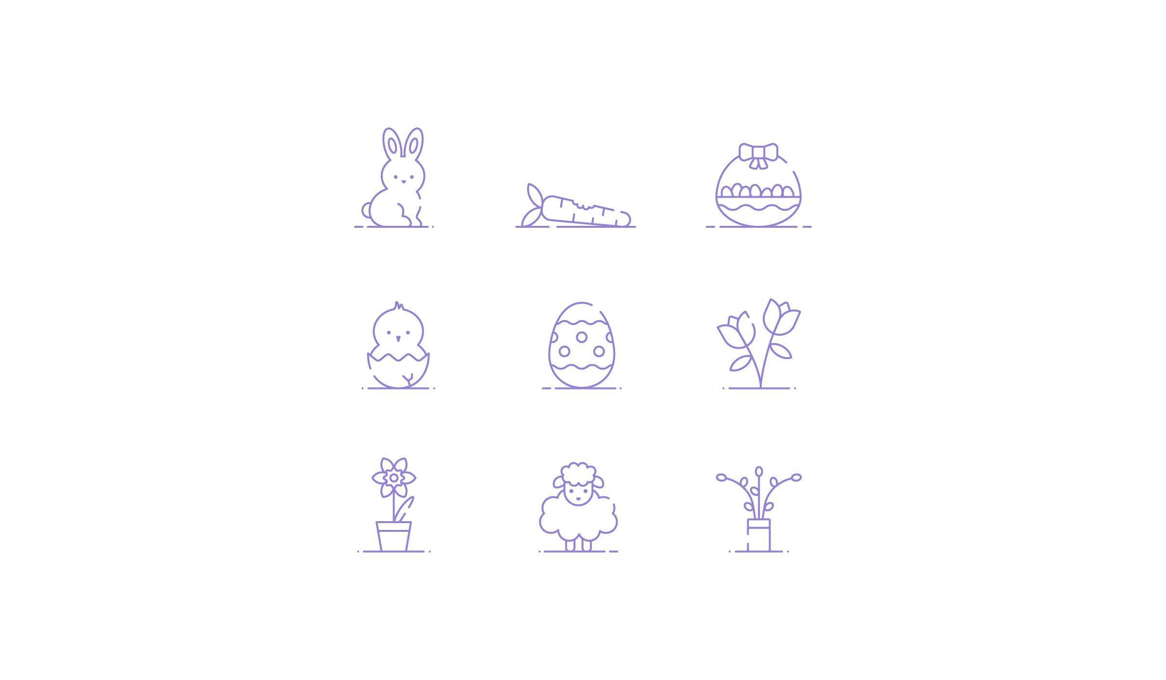 Icon Set Ostern