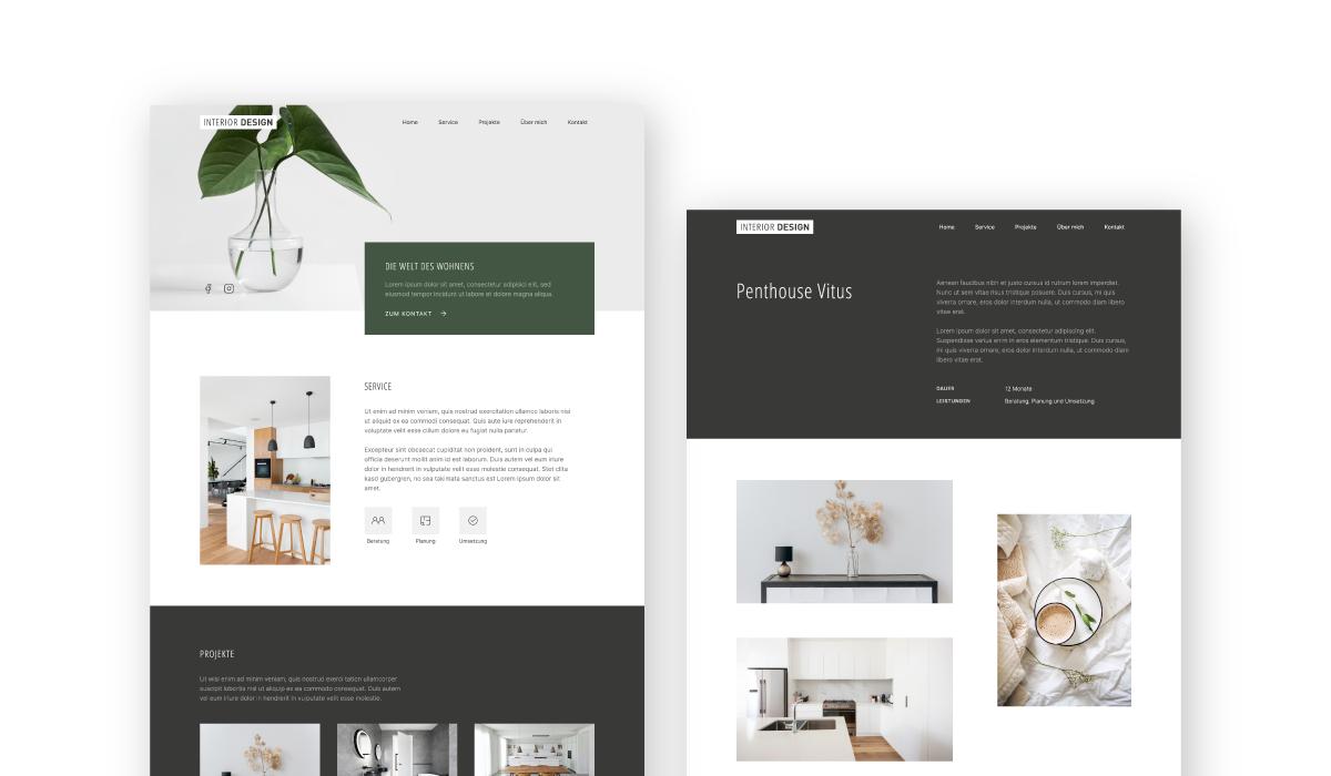 Screenshots Website Interior Design