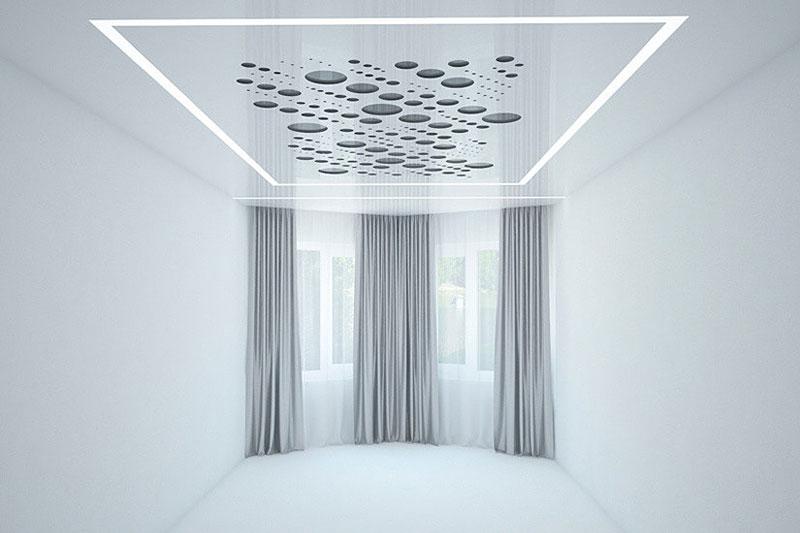 Натяжные потолки в Сочи, перфорированные (3D, резные)