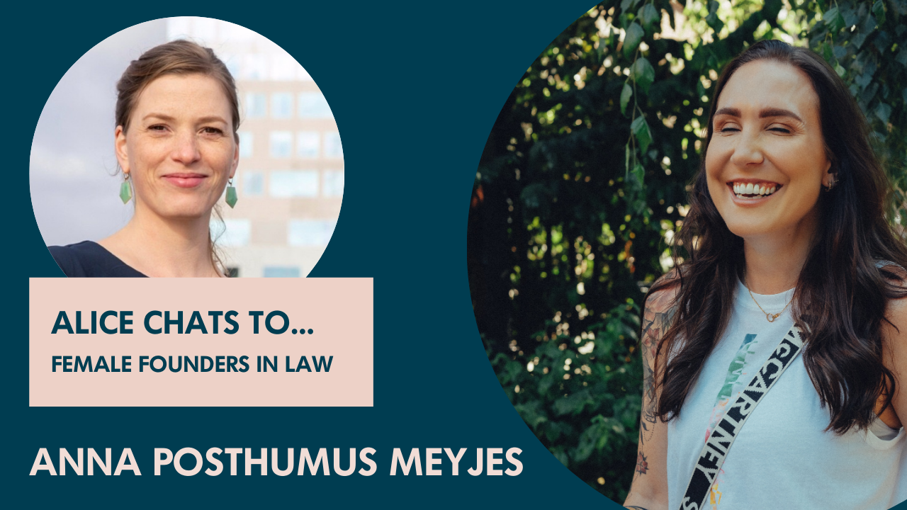 Anna Posthumus Meyjes on founding a legal design consultancy