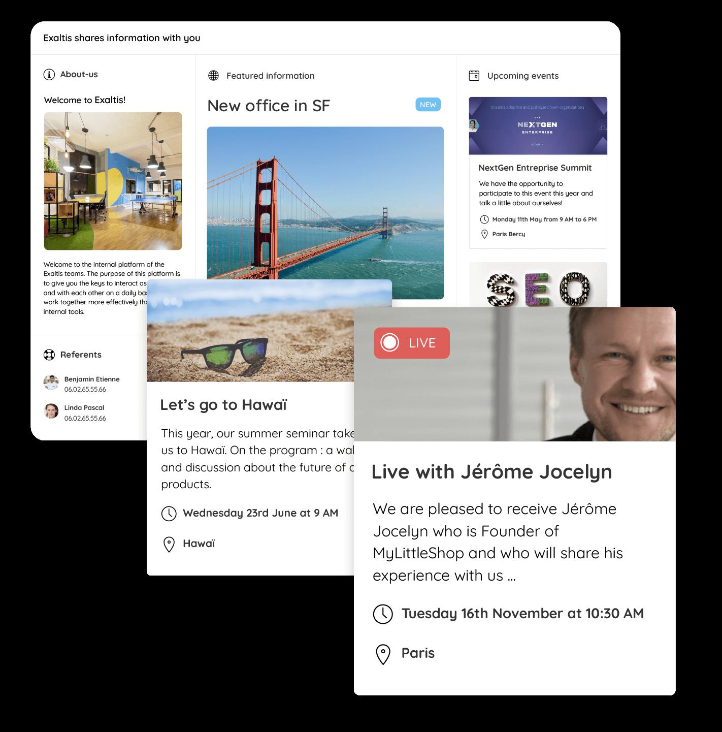 Talkspirit home portal