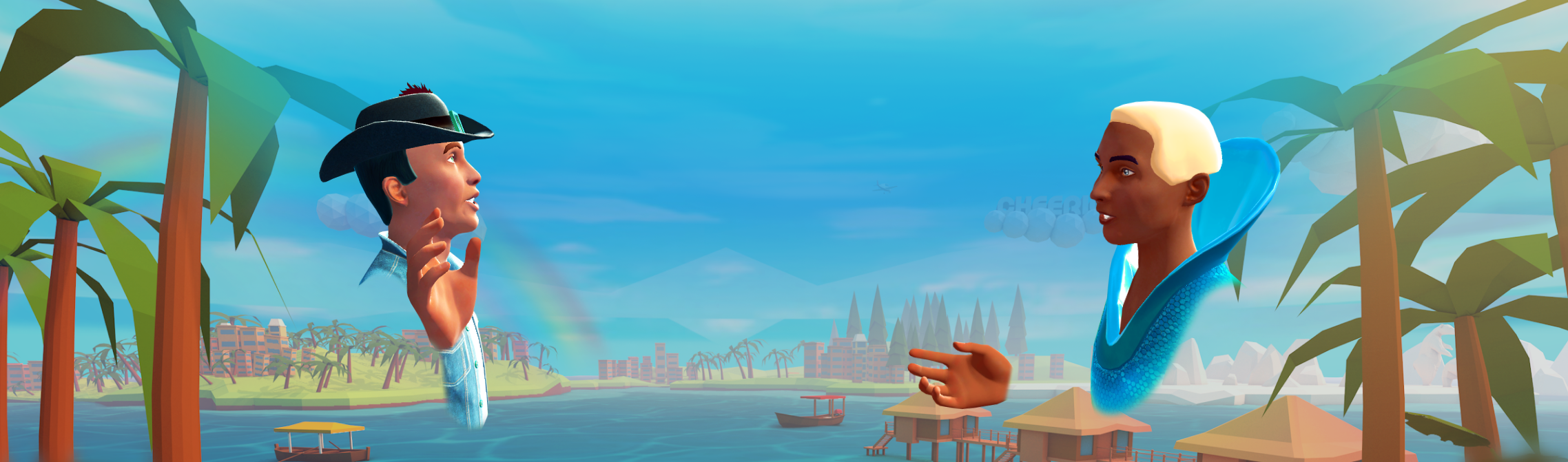 Hero banner image. Limitless relationships. Social VR. Available on Oculus Quest.