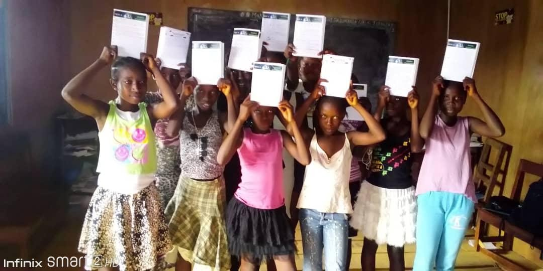 """Our first/pilot cohort of LLP, the """"Love, Learn & Play Girls' Club"""" in Freetown, Sierra Leone"""