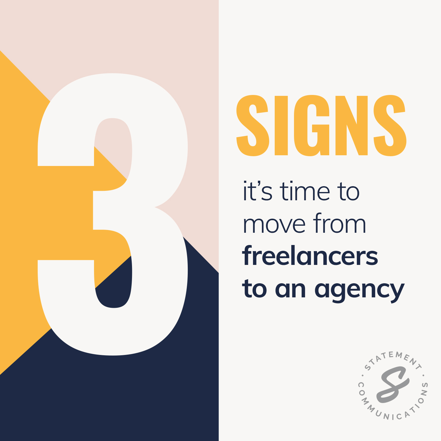 3 signs it's time to move from freelancers to an agency