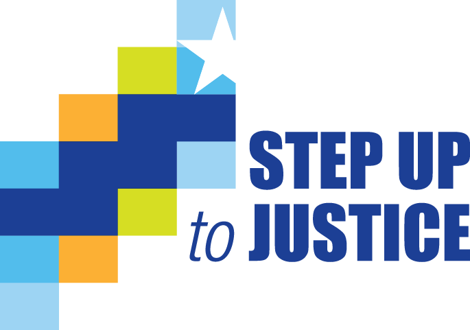 Step up to justice logo