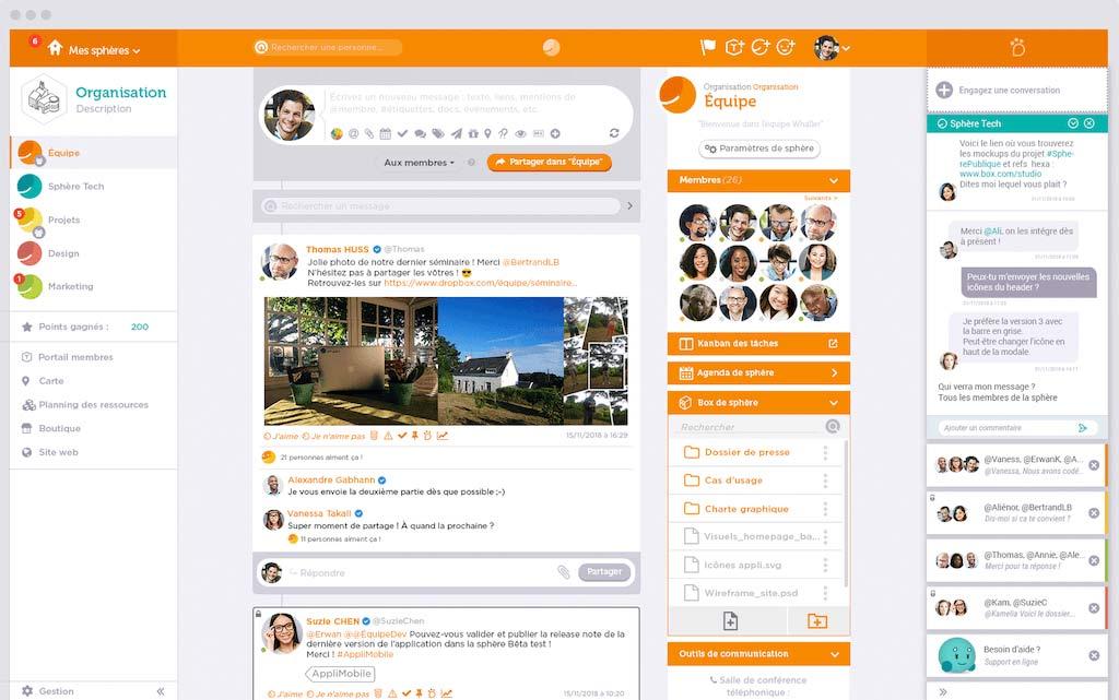 Talkspirit - Whaller interface