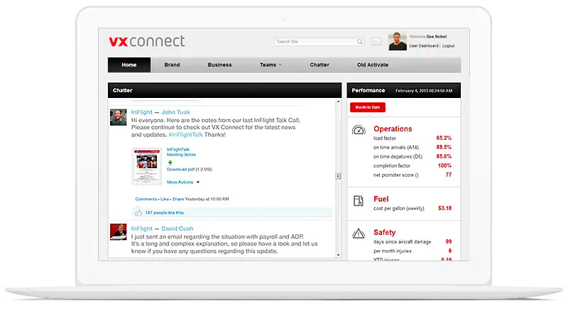 Talkspirit - Chatter interface