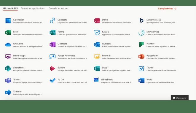 Microsoft 365 interface