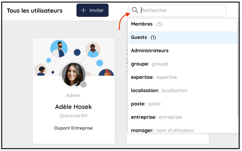 Recherchez les membres de votre communauté dans l'annuaire des utilisateurs