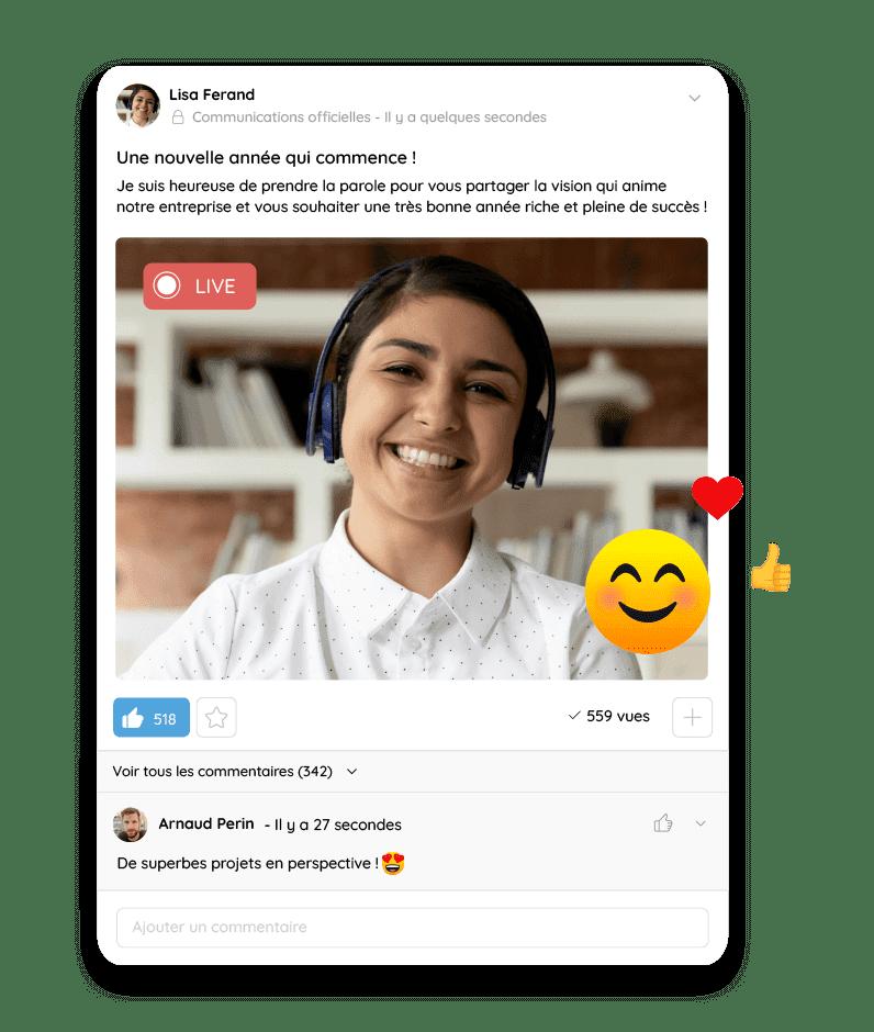 Communiquez en direct grâce au live vidéo