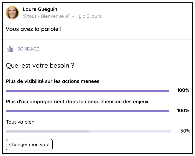 Donnez la parole à la communauté avec le sondage