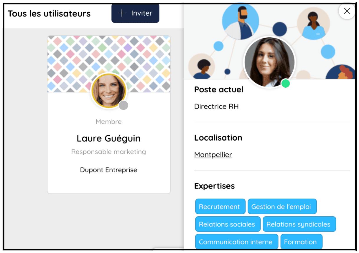 Renseignez vos informations de profil et affichez votre expertise