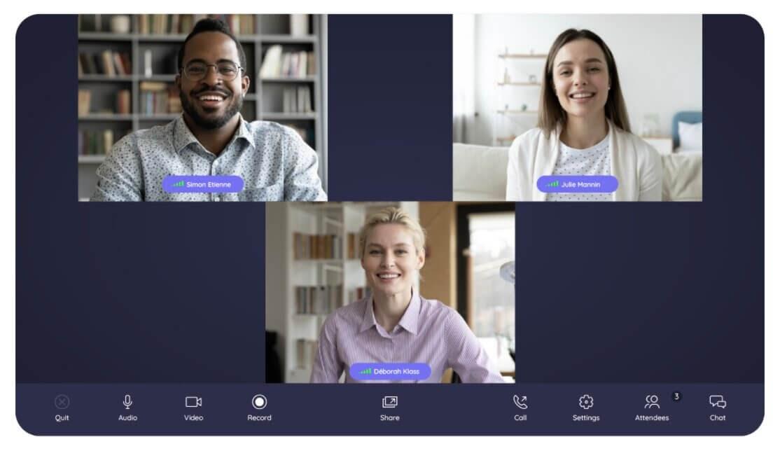 Exchange online through video conferencing