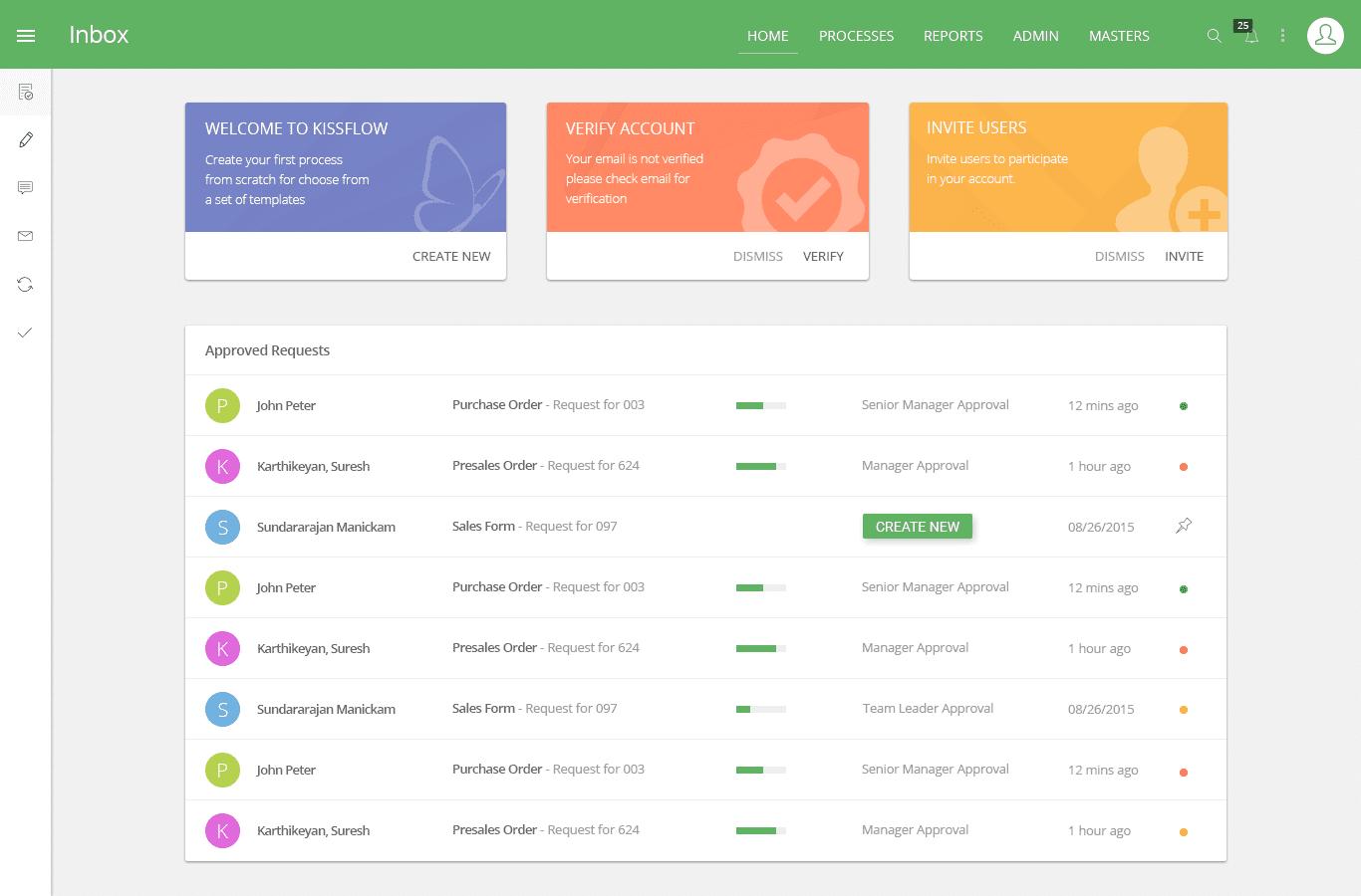 Kissflow interface