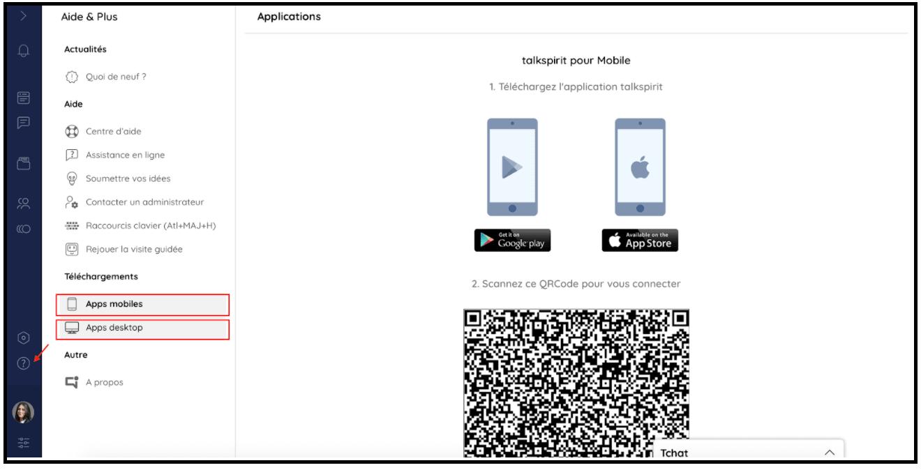 Télécharger les applications mobiles
