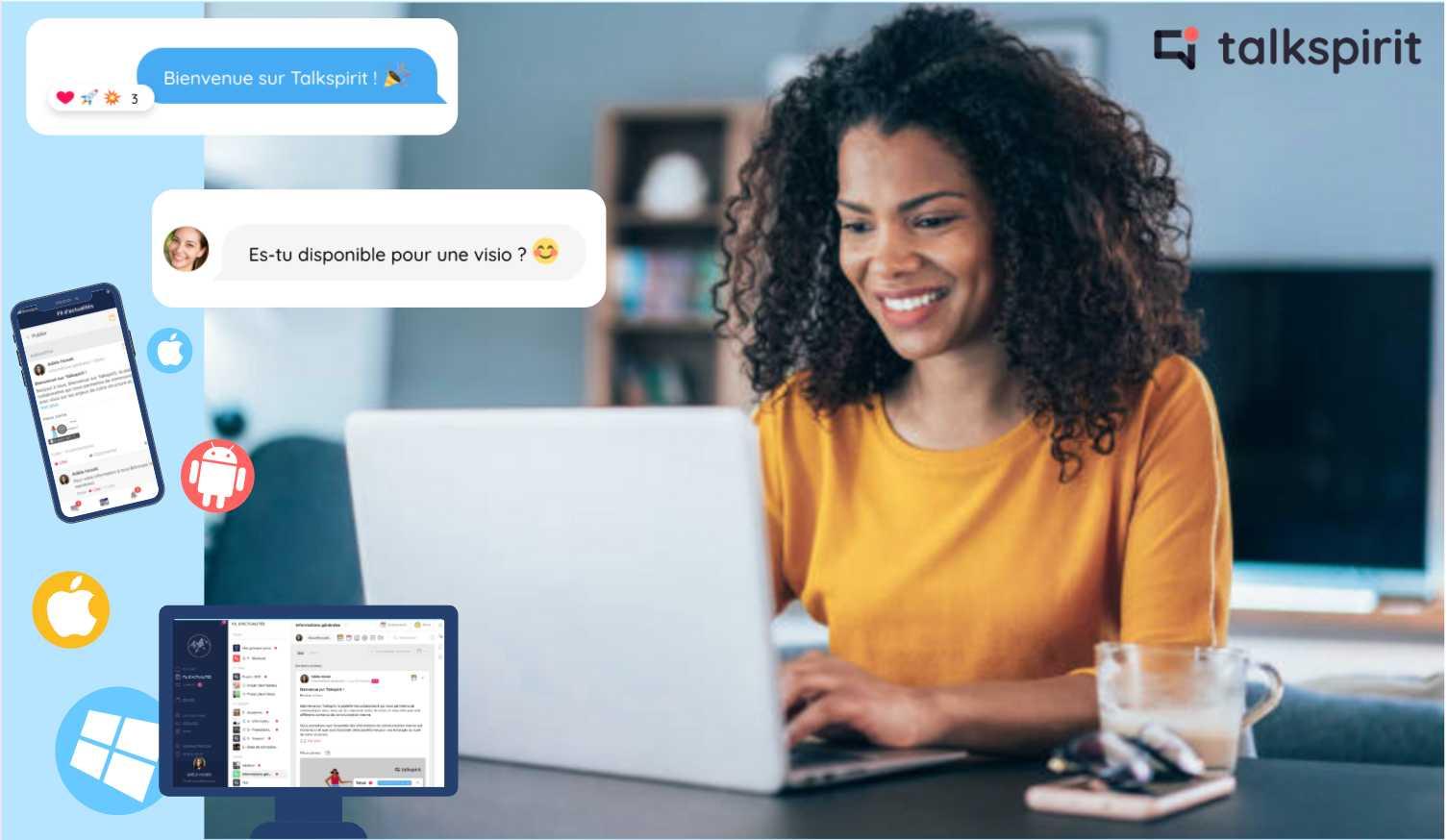 Interagissez facilement et gagnez en productivité avec Talkspirit