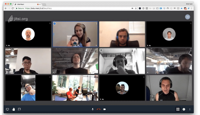 communication d'équipe Jitsi
