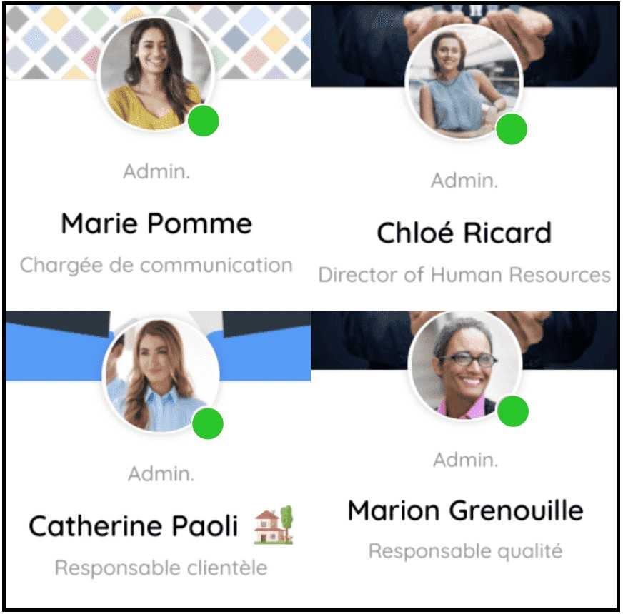 Affichez vos informations de profil aux utilisateurs de la plateforme
