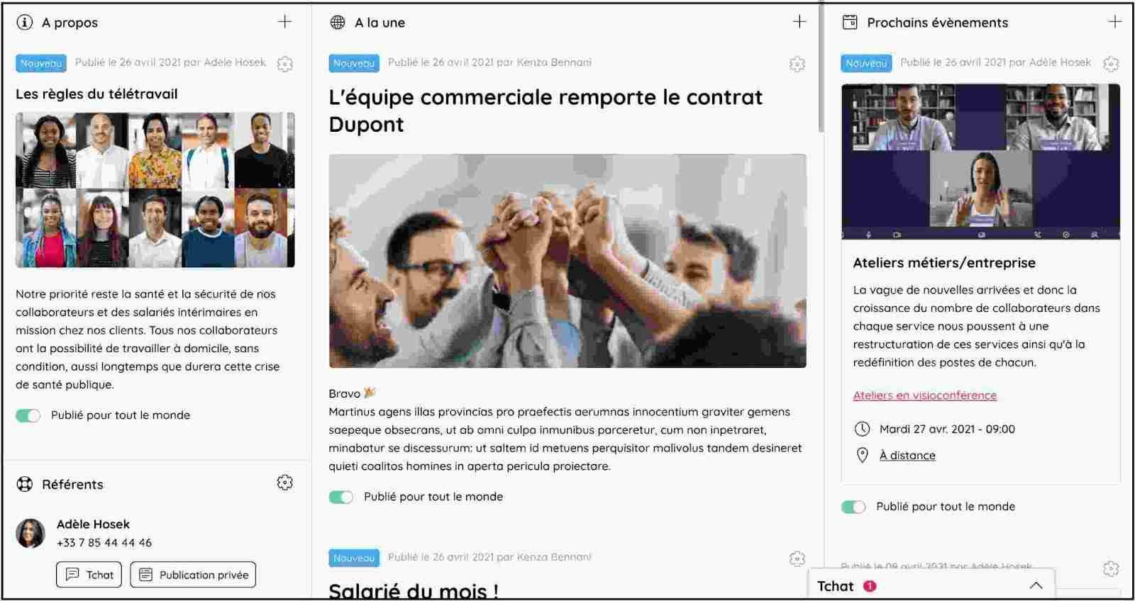Affichez les actualités de votre entreprise sur la page d'accueil