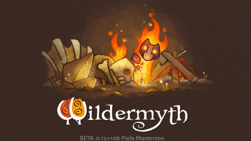 Wildermyth splash screen for a Beta release