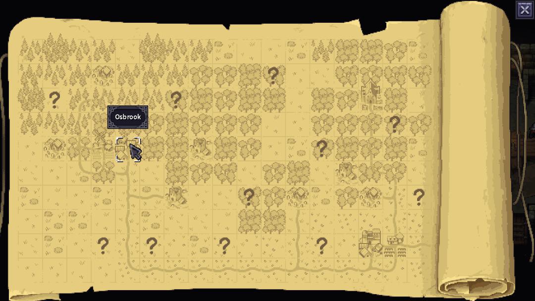 Stoneshard World Map screen