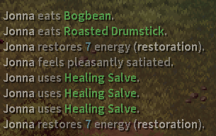 Stoneshard character healed by herbs and salve