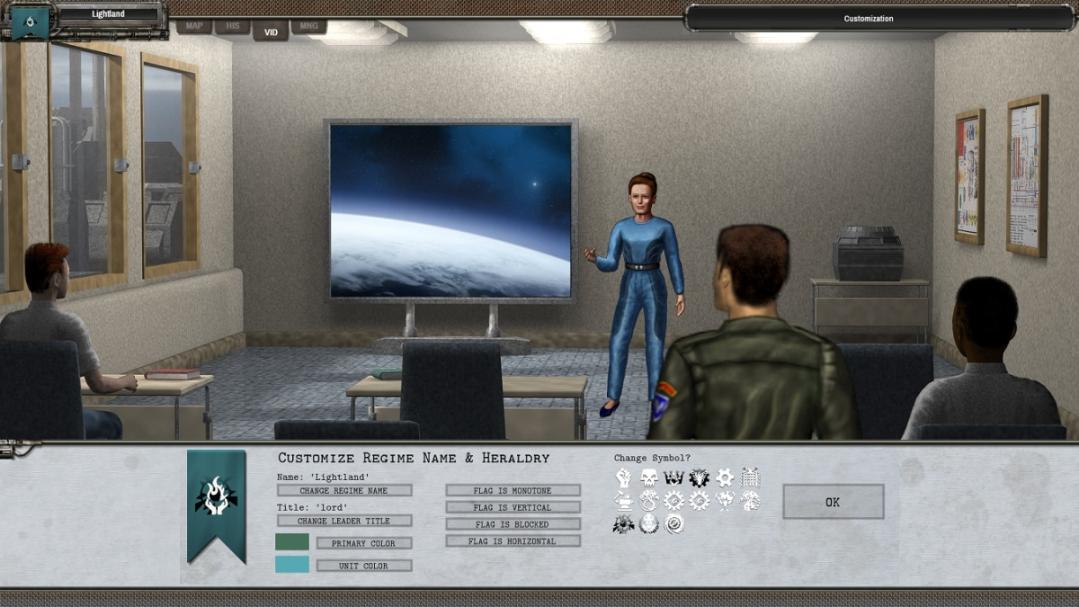 Shadow Empire Customize Regime Screen