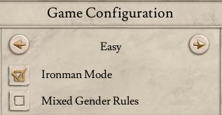 Imperator Rome Game Configuration Pane