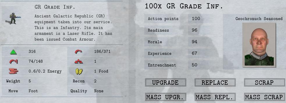 Shadow Empire GR Grade Infantry Unit
