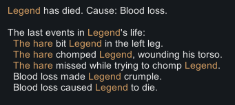 Rimworld Story Legend Dies from Mad Hare