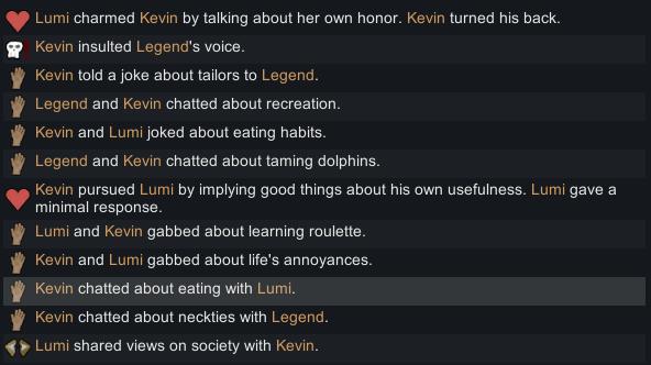 Rimworld Story Lumi and Kevin Socializing