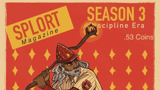 A mock cover for Splort magazine introducing Season 3 of Blaseball