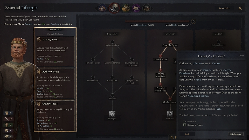 Crusader Kings 3 Tutorial Screen