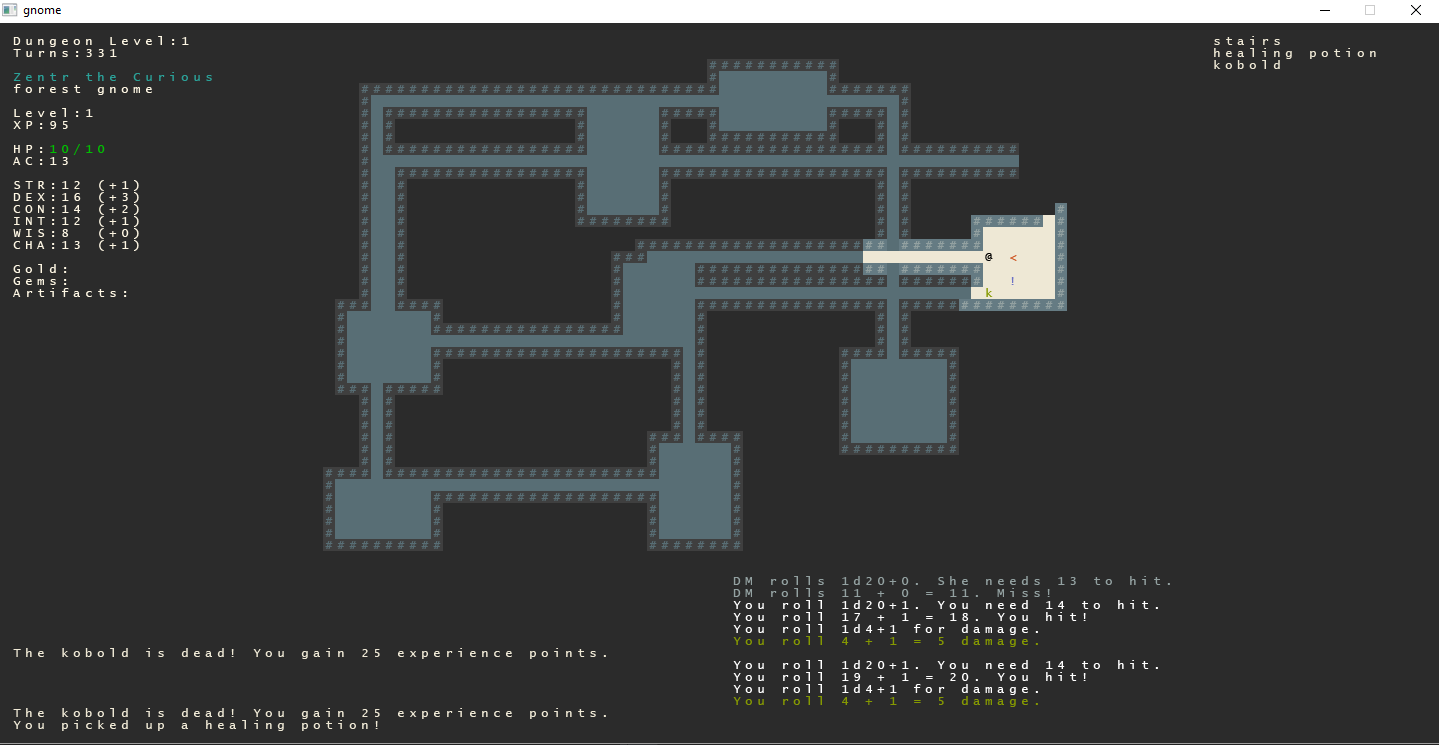 Simple roguelike dungeon