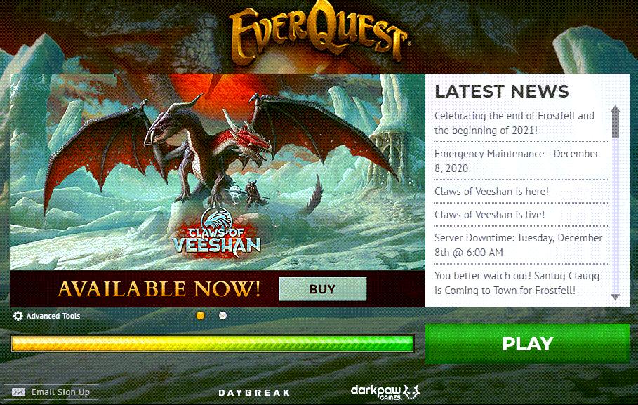 Everquest Game Client Window
