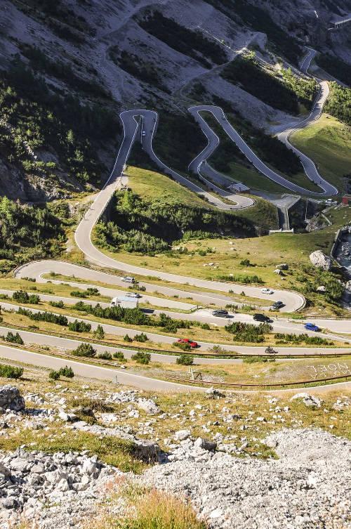 Roads winding around Mont Ventoux