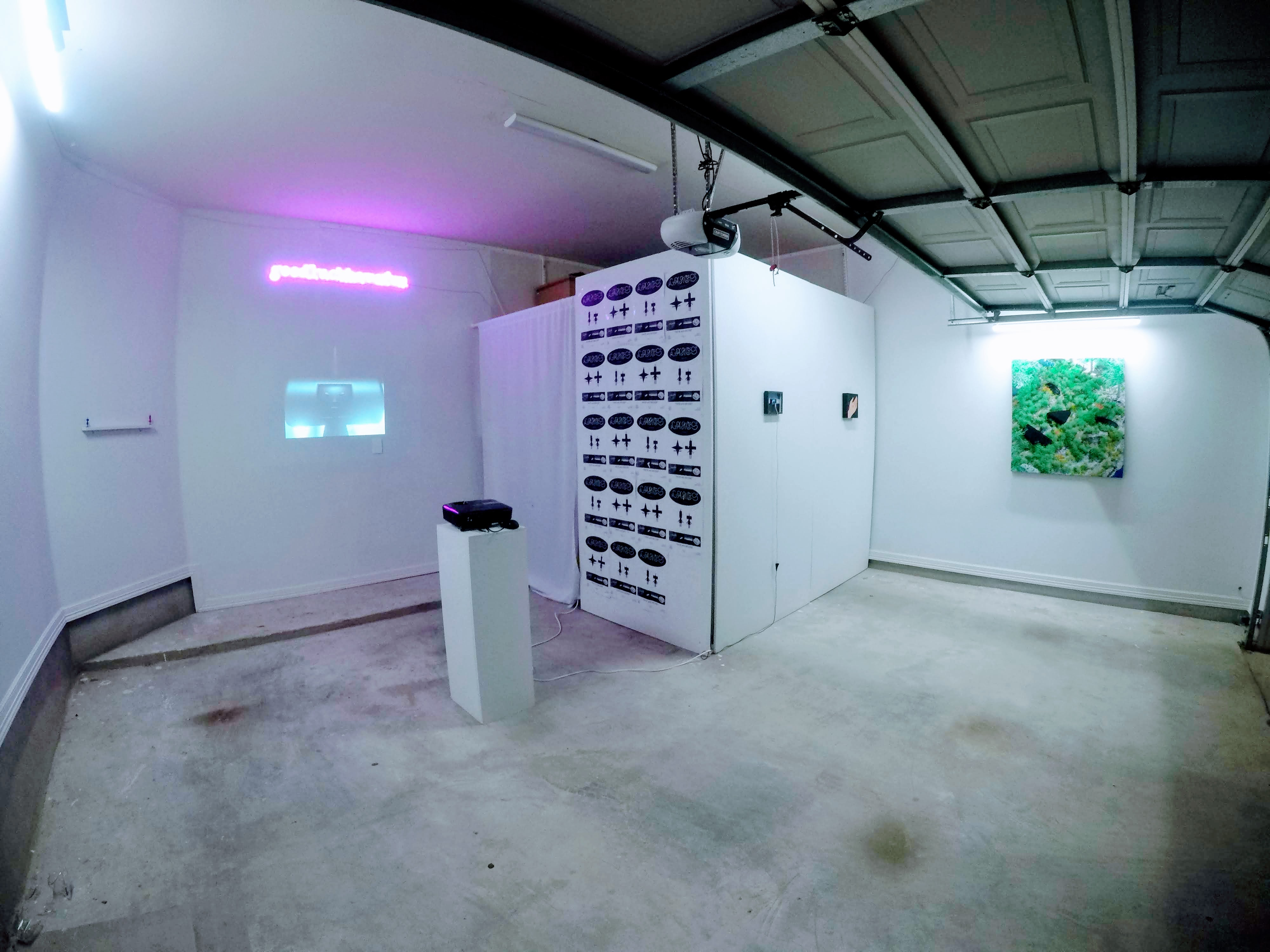 LAKES exhibition installed in GLHF gallery, march 2021