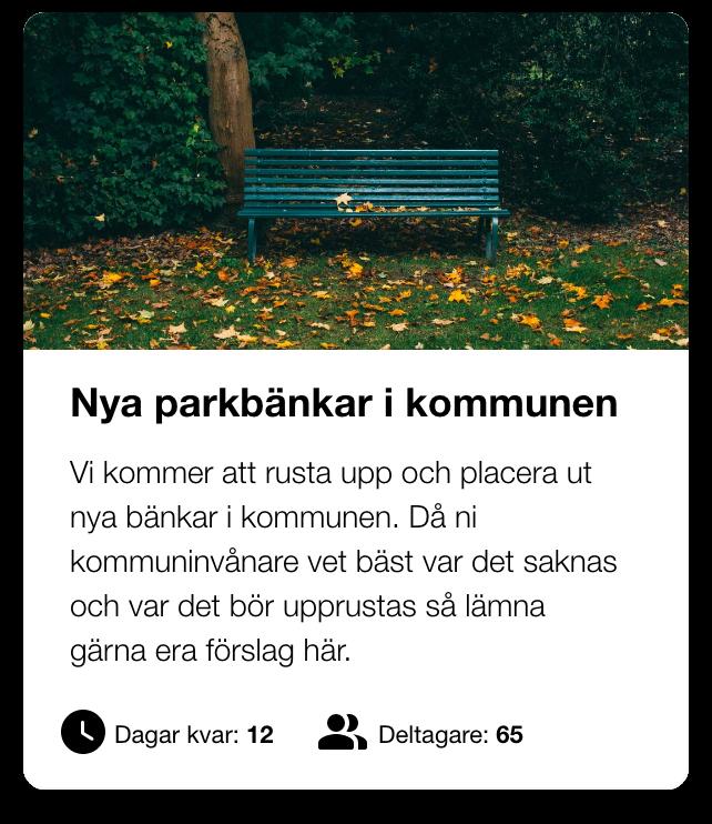 En medborgardialog om nya parkbänkar i kommunen