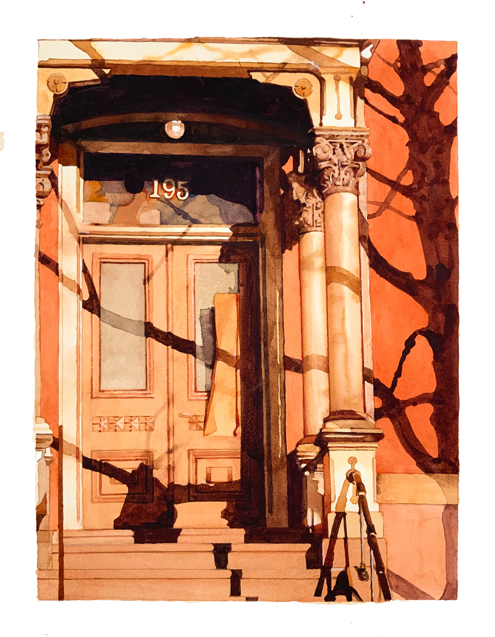 Mary Snowden's work entitled Doorway, made of watercolor on paper