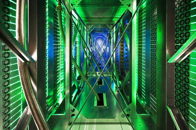 A data center from the inside