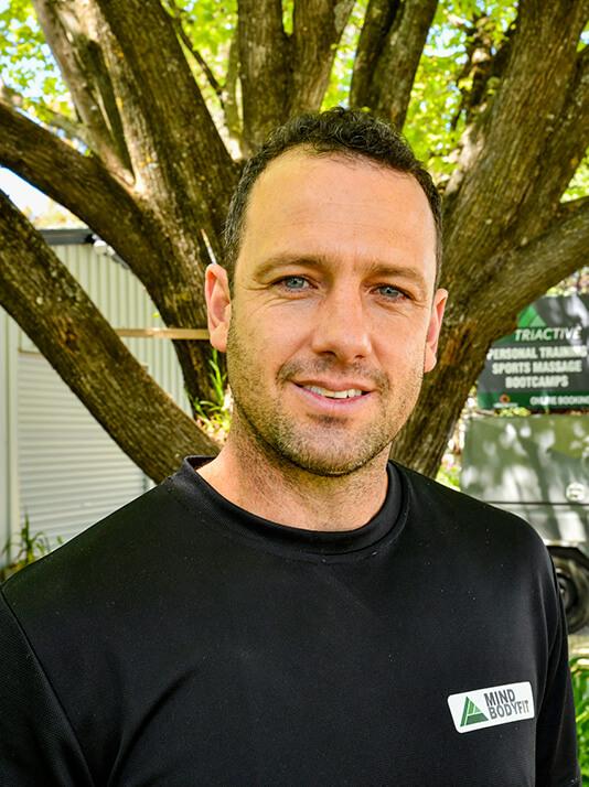 TriActive founder, Daniel Godsmark, in Euroa